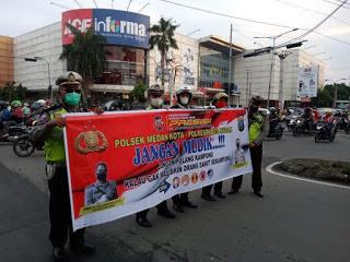 Cegah Penyebaran Covid-19, Polsek Medan Kota : Masyarakat Dihimbau  Jangan Mudik Hari Raya Idul Fitri