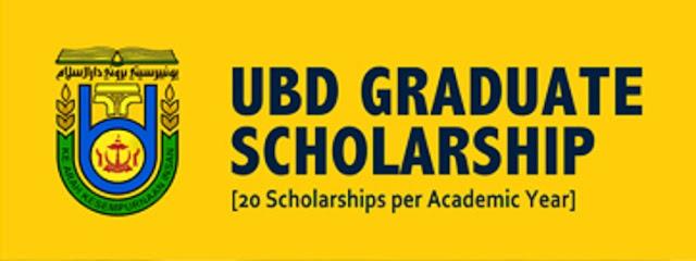 Universiti Brunei Darussalam (UBD) Graduate Scholarship 2020