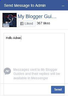 Facebook Messenger Widget For Blogger