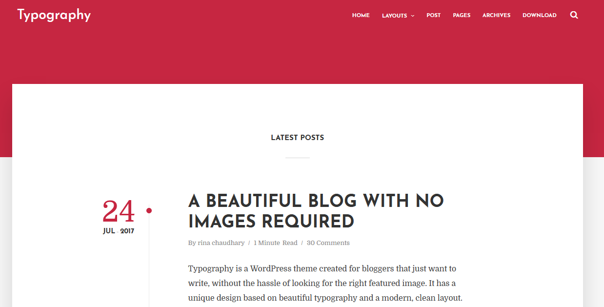 Text Based Minimal Blogger Template