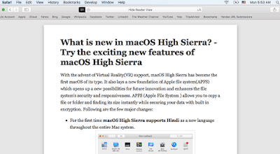 An Example of reader view in Safari