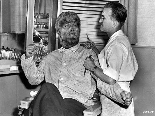 Jack Pierce y Lon Chaney Jr., el hombre lobo cobra forma