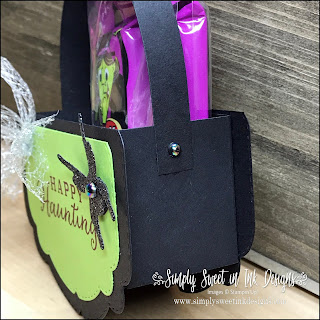 Spooky fun witch treat cauldron using the Celebration Labels dies.