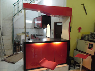 Kitchen Set Lengkap Dengan Minibar Kompor Tanam Dan Penghisap Asap + Furniture Semarang (Kitchen Set)