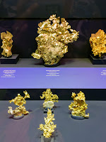 Leaf gold ore samples at American Museum of Natural History