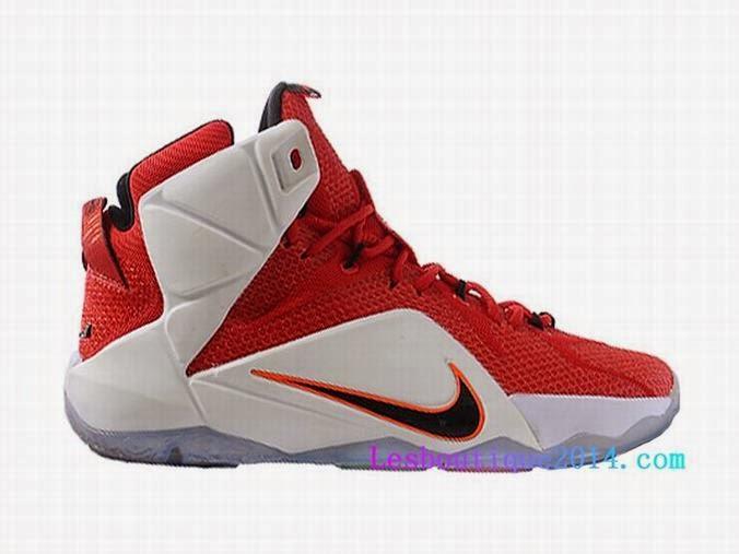 """check out 47d00 981a2 Acheter Adresse : http://www.lesboutique2014.com/nike-lebron-12-xii -""""lion-heart""""-chaussure-de-basket-ball-pas-cher-pour-homme-rouge-blanc-684593-601-1437.1.  ..."""