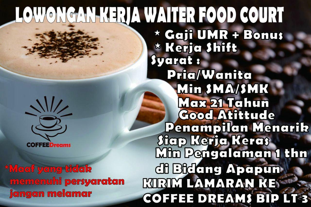 Lowongan Kerja Coffee Dreams Bandung Juni 2019
