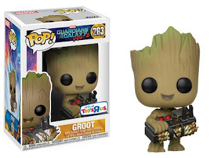 Pop! Marvel: Groot holding Bomb.