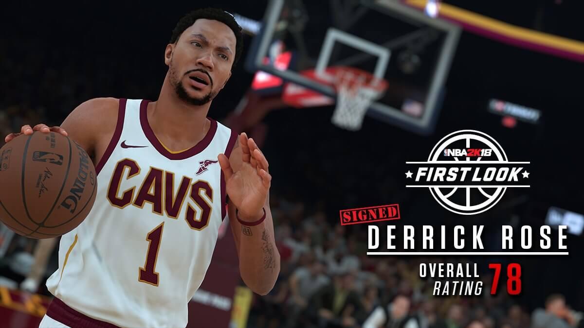 NBA 2k18 Derrick Rose Screenshot in Cavs