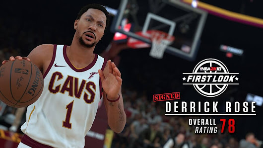 NBA 2k18 Derrick Rose Screenshot in Cavs