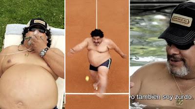ROLY SERRANO FAT MARADONA VIDEO KICKING TENNIS BALL