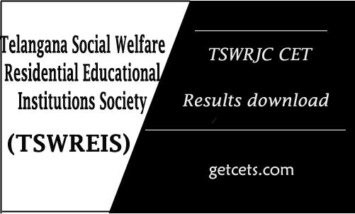 TSWRJC CET 2021 Results date, tswreis inter entrance test selection list