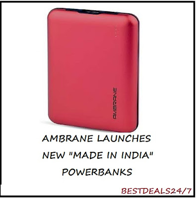 Ambrane Launches Made in India Powerbanks