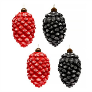 glass pine cone ornaments