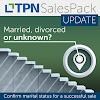 Confirm marital status for a successful sale!