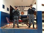 OPERAÇÃO SALVAGUARDA - PM recupera moto roubada em Lago dos Rodrigues