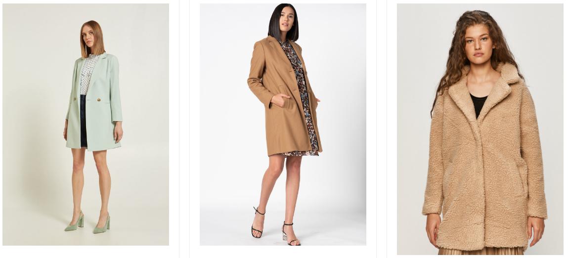 Paltoane moderne de dama la moda iarna 2020 la preturi mici blana si stofa
