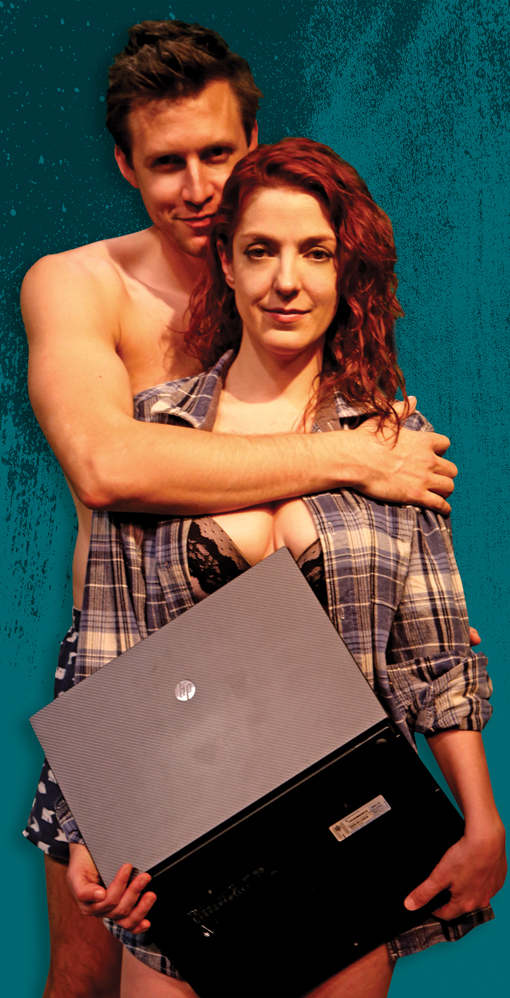 Sex With Strangers, Horizon Theatre Company, Olivia (Megan Hayes) and Ethan (Michael Shenefelt), Photo: Bradley Hester