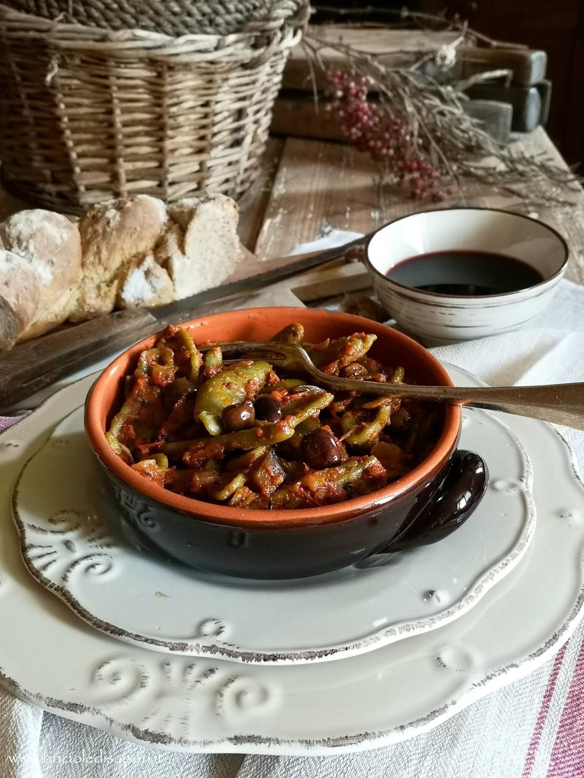 ricette pasta foglie d'ulivo
