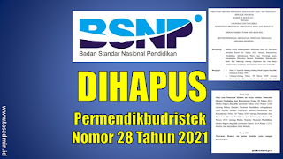 BSNP dihapus Permendikbudristek 28 Tahun 2021