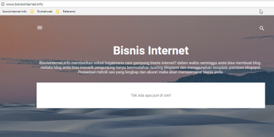 Menghubungkan domain ke blogspot