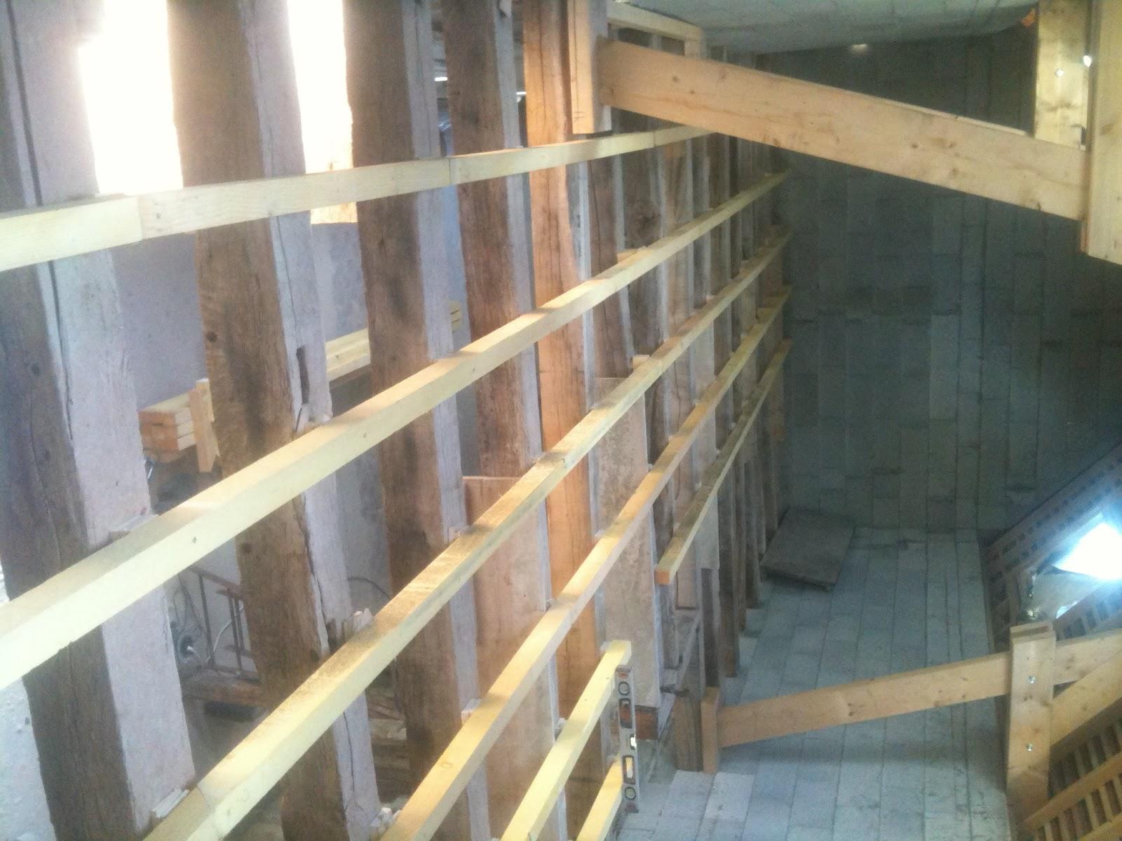 r novation d 39 une long re en touraine plancher tage et. Black Bedroom Furniture Sets. Home Design Ideas
