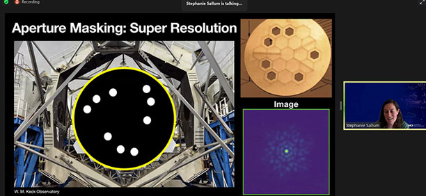 Using aperture masking to get higher resolution of exoplanets  (Source: Stephanie Sallum, UCI)