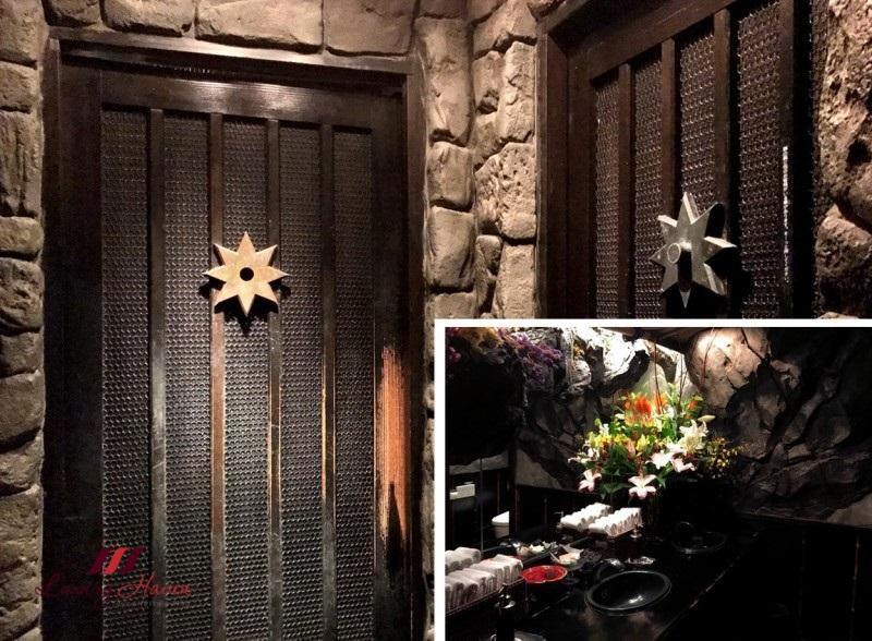 japanese themed restaurant ninja akasaka restroom