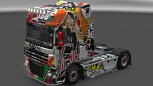 Sticker Bomb skin for DAF XF