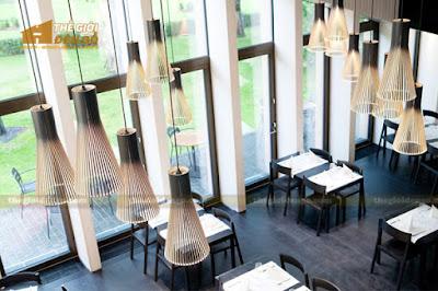 Thế Giới Đèn Gỗ - Những mẫu đèn trang trí quán cafe tuyệt đẹp 2