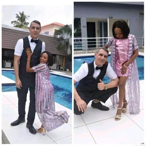"""GIST: Nollywood Actress """"Miss Koikoi"""" marries her long-time Oyibo boyfriend (PHOTOS)"""