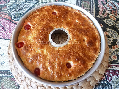 Roscón de Reyes. Horneado