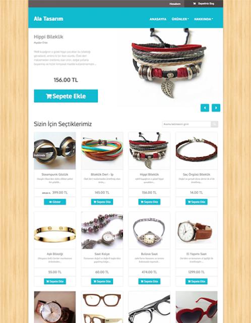 shopify tarzı e-ticaret scripti