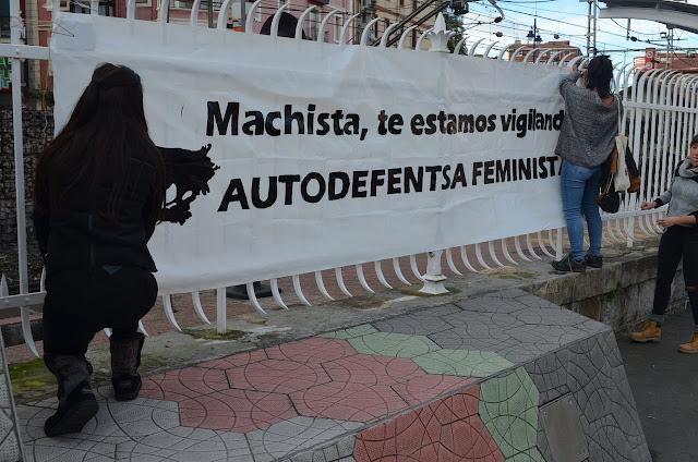 Pancarta en una marcha contra la violencia machista