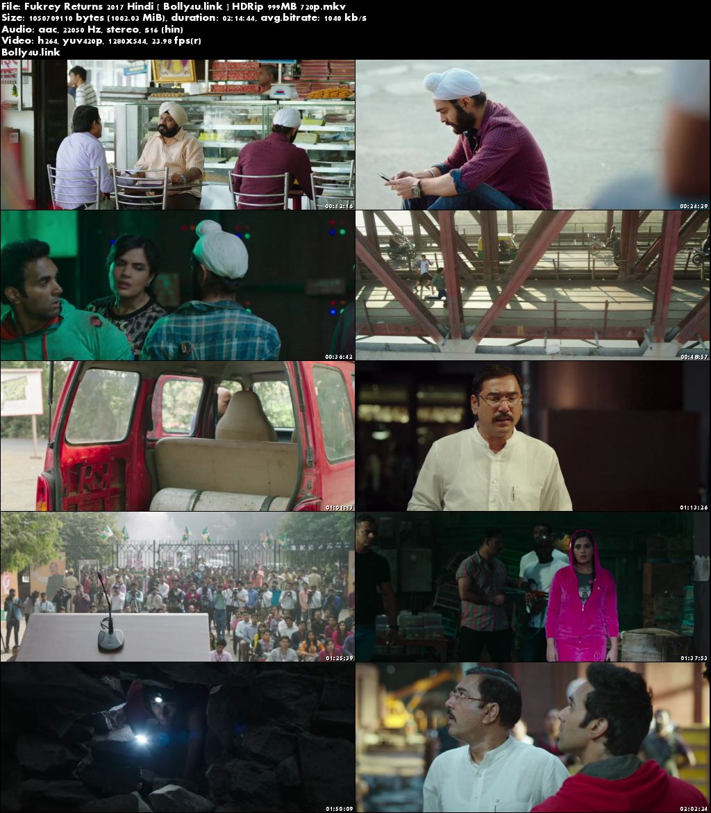 Fukrey Returns 2017 HDRip 400Mb Full Hindi Movie Download 480p