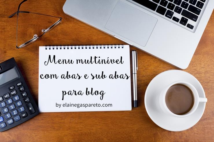 menu multinivel com abas e sub abas para blog