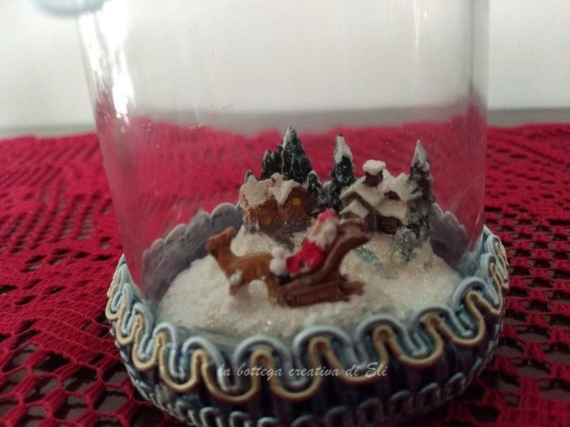 tutorial snowglobes con barattoli di vetro