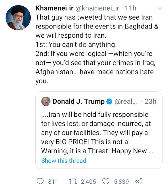 Donald Trump treat to Iran