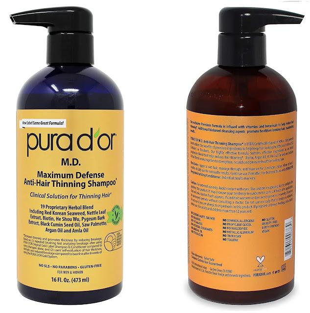 11. Pura D'or Anti-Hair Thinning Shampoo