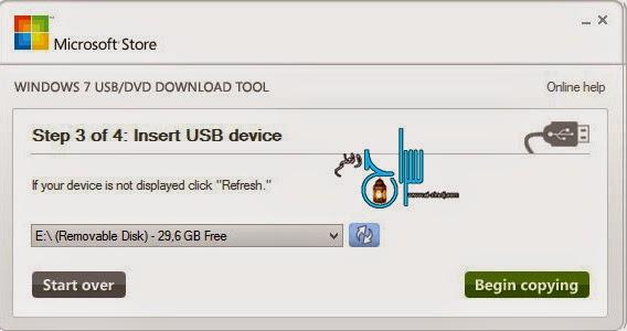 ISO Windows sur la clé USB