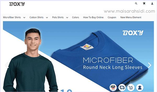 tshirt microfiber BOXY