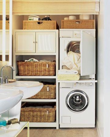 Perfect home lavandaria na casa de banho a s rio - Armarios para lavadoras ...