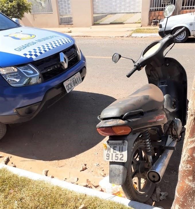 Moto roubada em Rosário Oeste foi localizada e recuperada em Lucas do Rio Verde