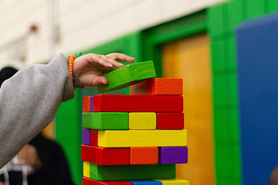 favorite toys - colorful wooden blocks