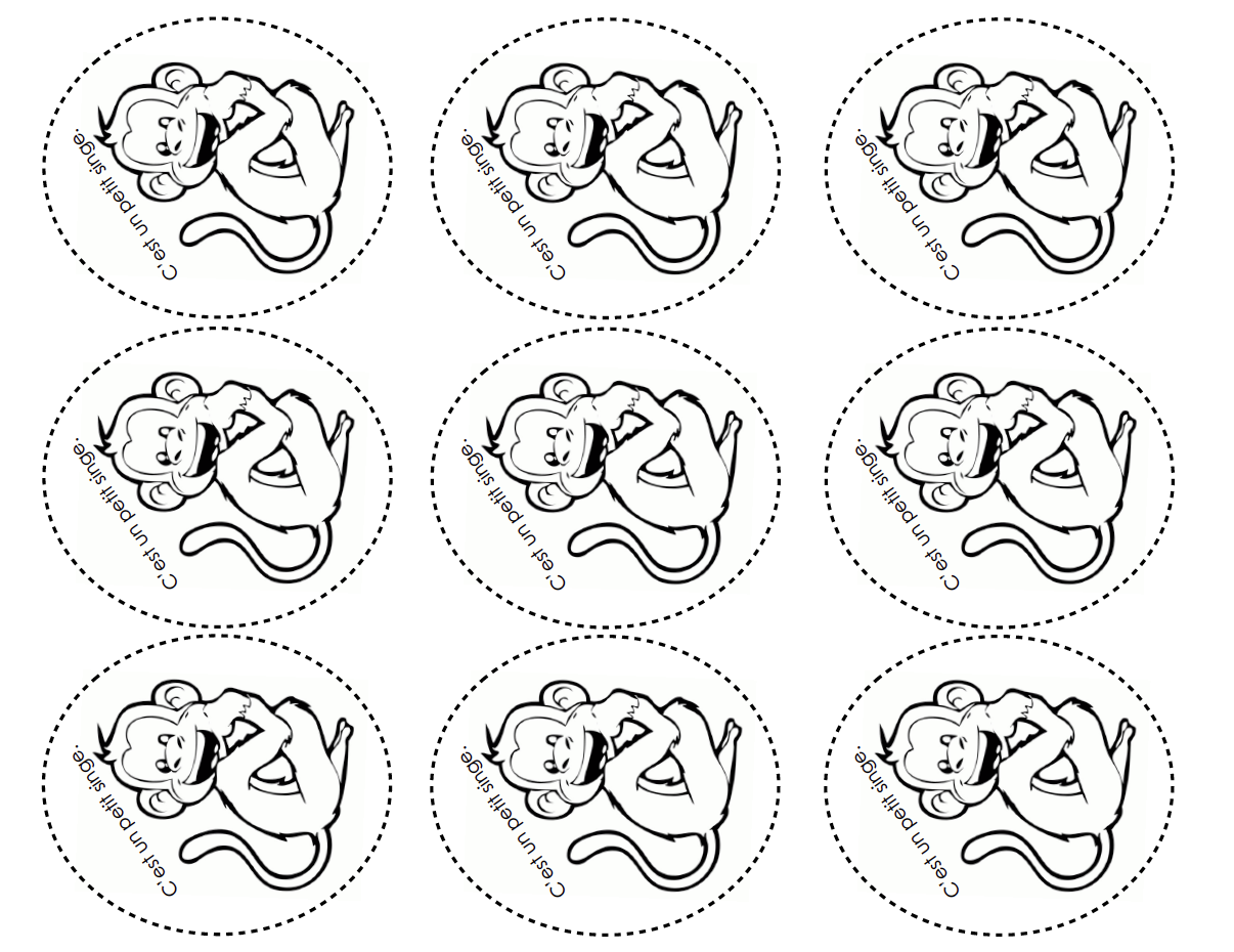 Five Little Monkeys Printable Puppets Sketch Coloring Page