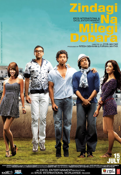 Poster Of Zindagi Na Milegi Dobara 2011 720p Hindi BRRip Full Movie Download