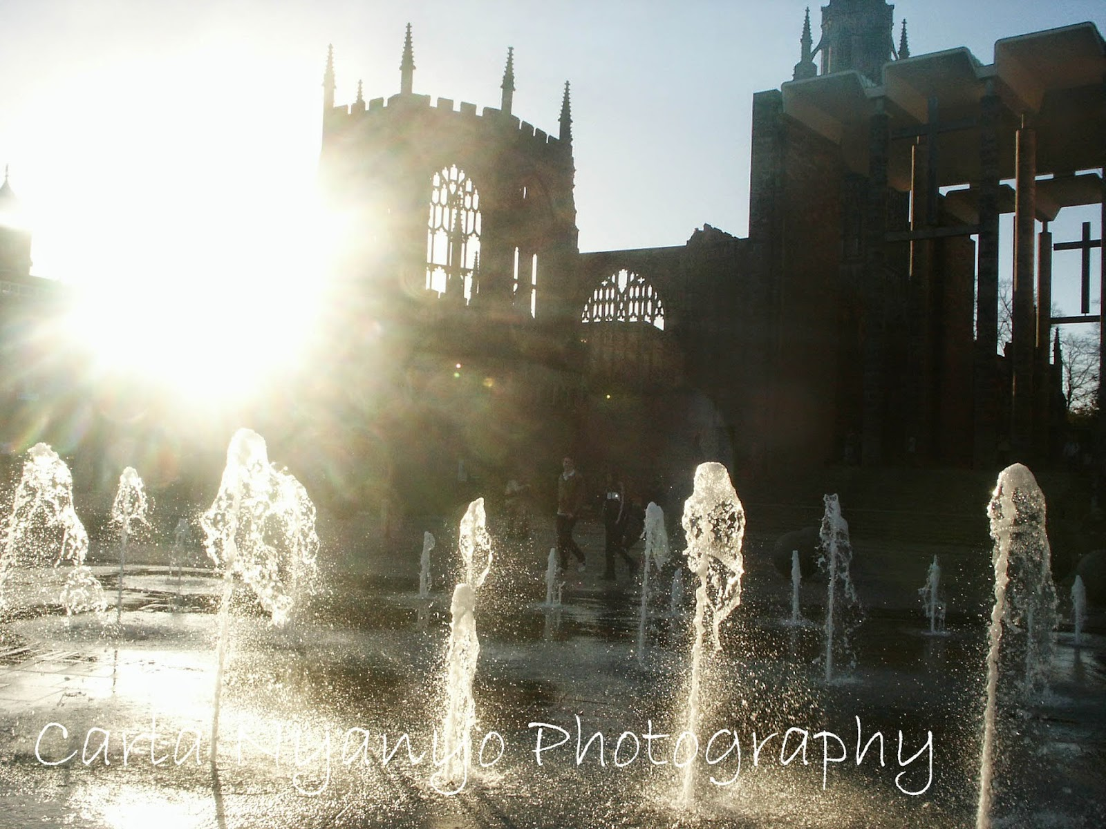 Coventry cathedral fountains