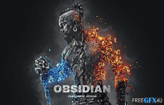 Obsidian Photoshop Action