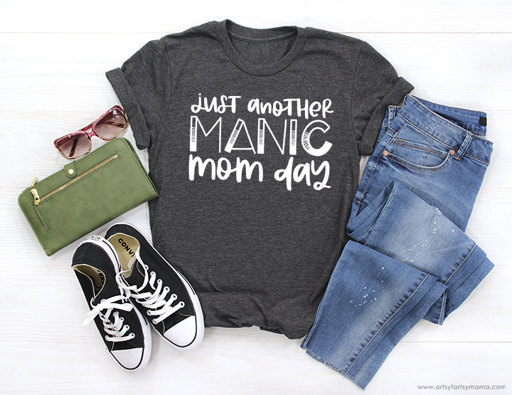 Free Manic Mom Day Cut File #TotallyFreeSVG