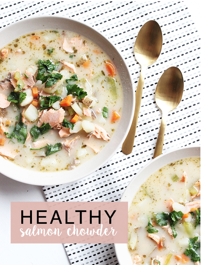 healthy salmon chowder